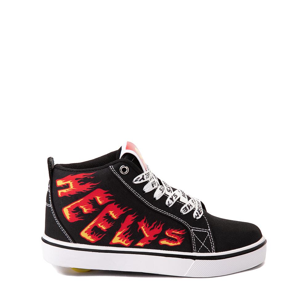 Heelys Racer 20 Mid Skate Shoe - Little Kid / Big Kid - Black / Flames