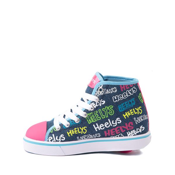 alternate view Heelys Veloz Skate Shoe - Little Kid / Big Kid - Denim / MulticolorALT1