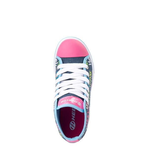 alternate view Heelys Veloz Skate Shoe - Little Kid / Big Kid - Denim / MulticolorALT2