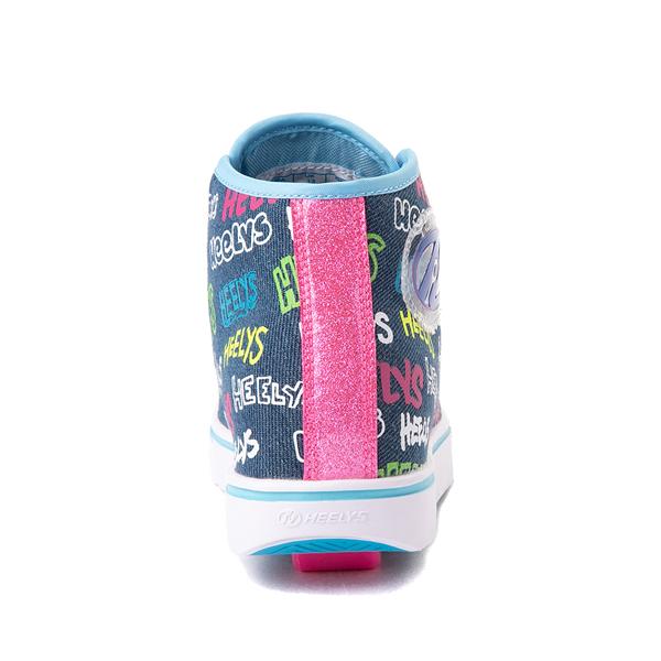 alternate view Heelys Veloz Skate Shoe - Little Kid / Big Kid - Denim / MulticolorALT4