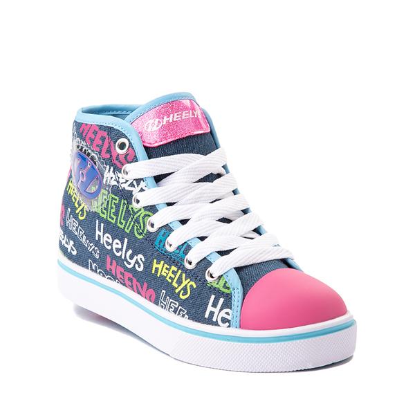 alternate view Heelys Veloz Skate Shoe - Little Kid / Big Kid - Denim / MulticolorALT5