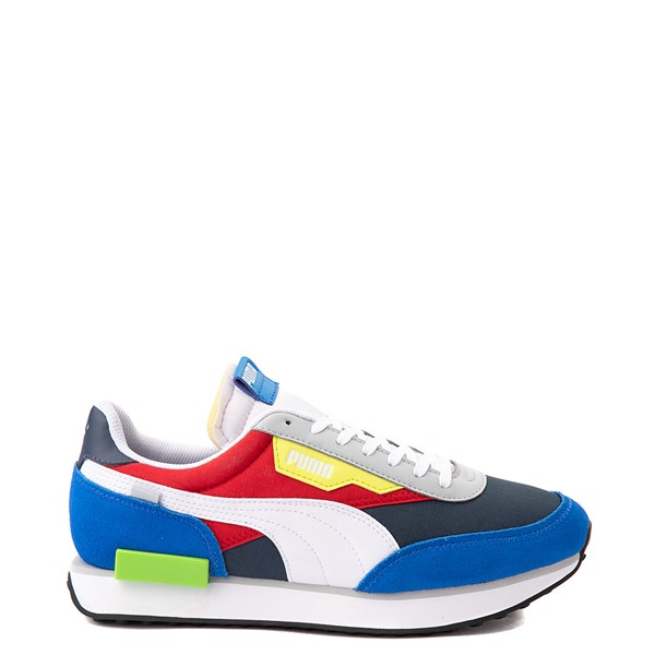 Main view of Mens Puma Future Rider Play On Athletic Shoe - Spellbound Blue / Multicolor