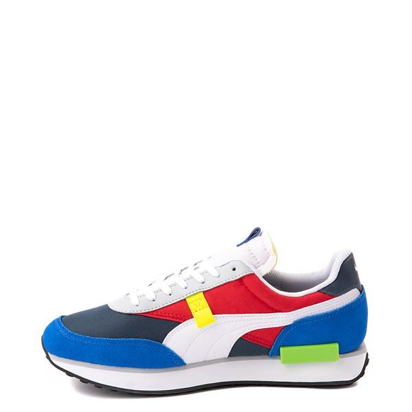 alternate view Mens Puma Future Rider Play On Athletic Shoe - Spellbound Blue / MulticolorALT1