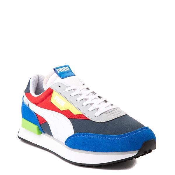 alternate view Mens Puma Future Rider Play On Athletic Shoe - Spellbound Blue / MulticolorALT5