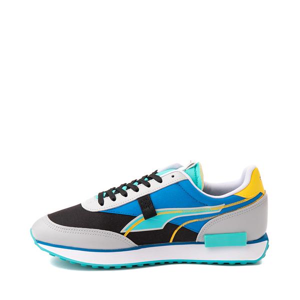 alternate view Mens Puma Future Rider Twofold Athletic Shoe - Gray / Black / Blue / YellowALT1