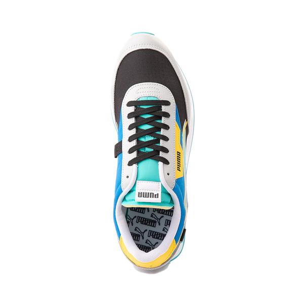 alternate view Mens Puma Future Rider Twofold Athletic Shoe - Gray / Black / Blue / YellowALT2