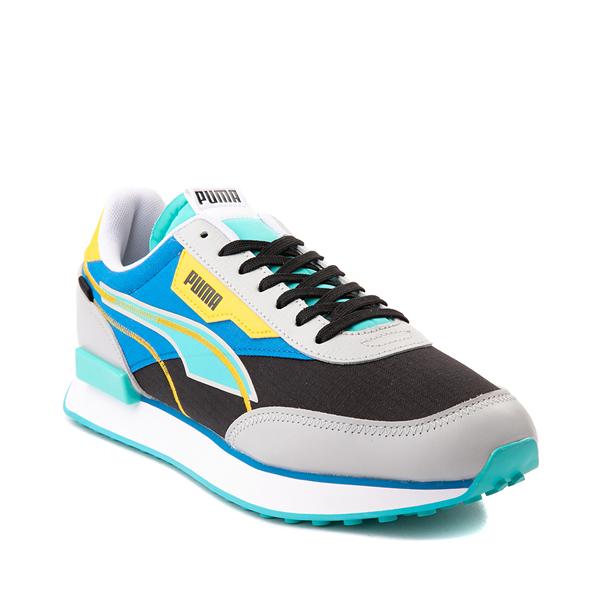 alternate view Mens Puma Future Rider Twofold Athletic Shoe - Gray / Black / Blue / YellowALT5