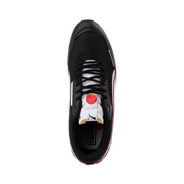 alternate view Mens Puma City Rider Athletic Shoe - Black / White / RedALT2