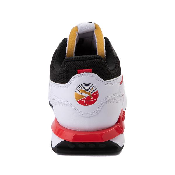alternate view Mens Puma City Rider Athletic Shoe - Black / White / RedALT4