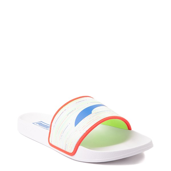 alternate view Puma Leadcat FTR Slide Sandal - Spectra White / MulticolorALT5