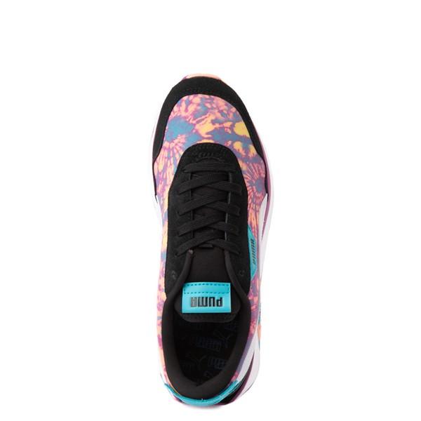 alternate view Womens Puma Cruise Rider Tie Dye Platform Athletic Shoe -Black / Apricot Blush / ByzantiumALT2