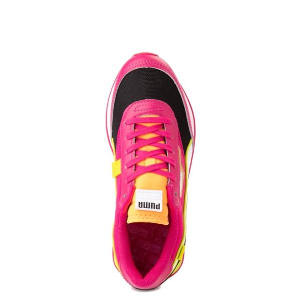 alternate view Womens Puma Future Rider City Lights Athletic Shoe - Black / BeetrootALT2