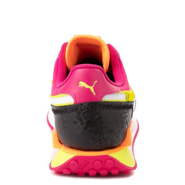 alternate view Womens Puma Future Rider City Lights Athletic Shoe - Black / BeetrootALT4