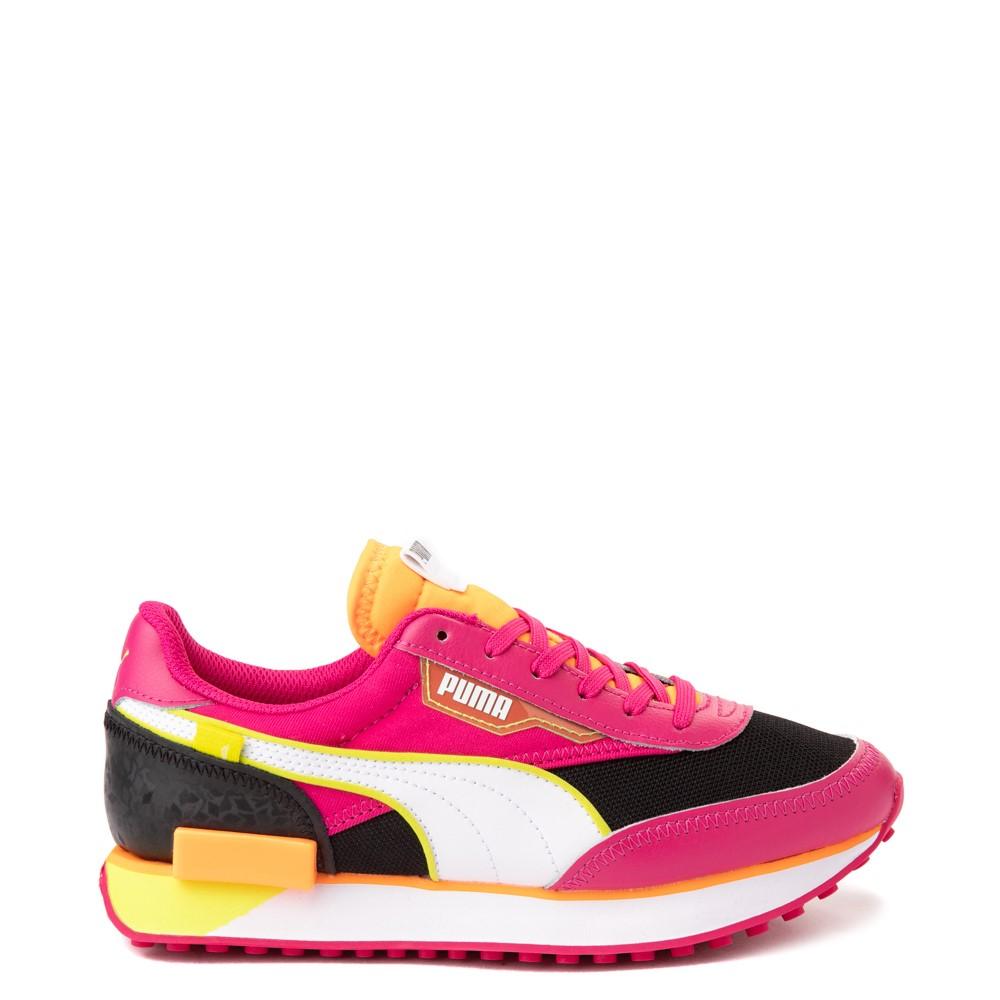 Womens Puma Future Rider City Lights Athletic Shoe - Black / Beetroot
