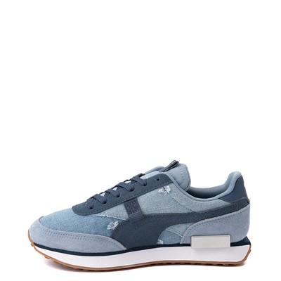 Alternate view of Womens Puma Future Rider Denim Athletic Shoe - Blue
