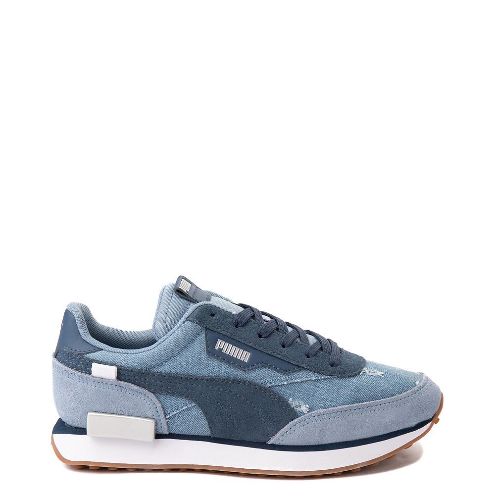 Womens Puma Future Rider Denim Athletic Shoe - Blue