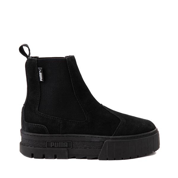 Womens Puma Mayze Platform Chelsea Boot - Black Monochrome