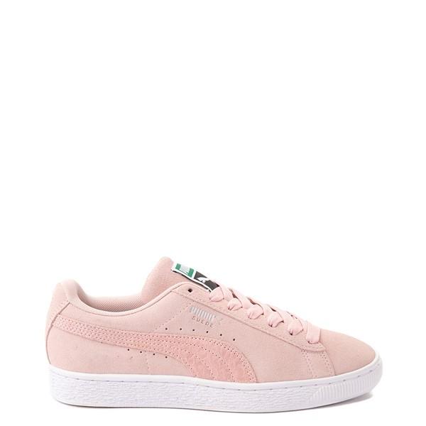 Womens Puma Suede Iridescent Athletic Shoe - Lotus