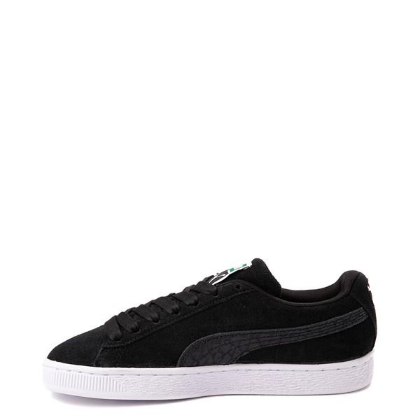 alternate view Womens Puma Suede Iridescent Athletic Shoe - BlackALT1