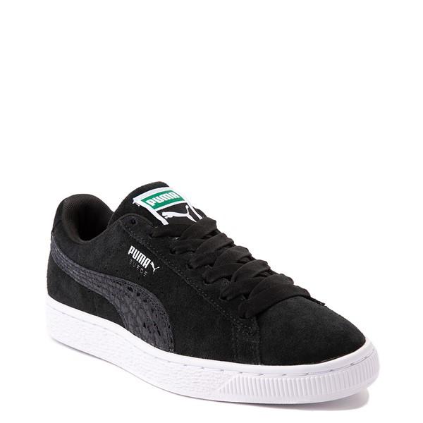 alternate view Womens Puma Suede Iridescent Athletic Shoe - BlackALT5