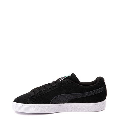Alternate view of Womens Puma Suede Iridescent Athletic Shoe - Black