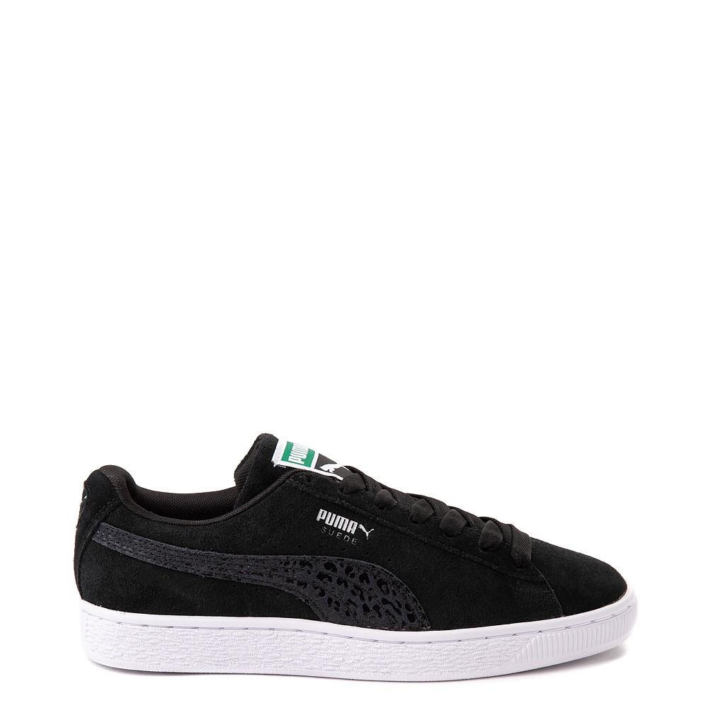 Womens Puma Suede Iridescent Athletic Shoe - Black
