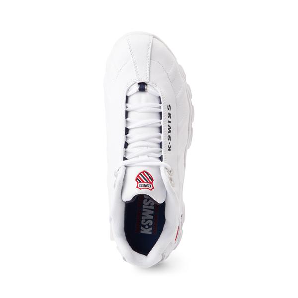 alternate view Mens K-Swiss ST329 Athletic Shoe - White / Navy / RedALT2