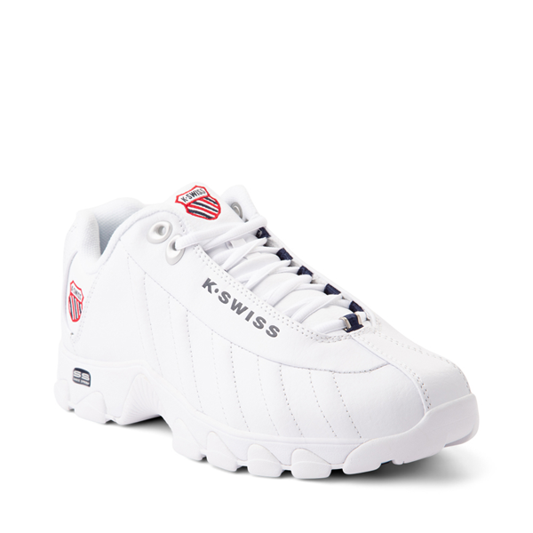 alternate view Mens K-Swiss ST329 Athletic Shoe - White / Navy / RedALT5
