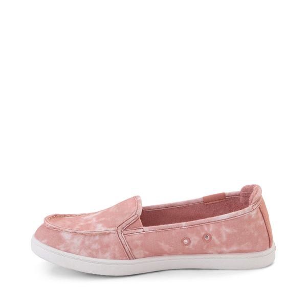 alternate view Womens Roxy Minnow Slip On Casual Shoe - BlushALT1