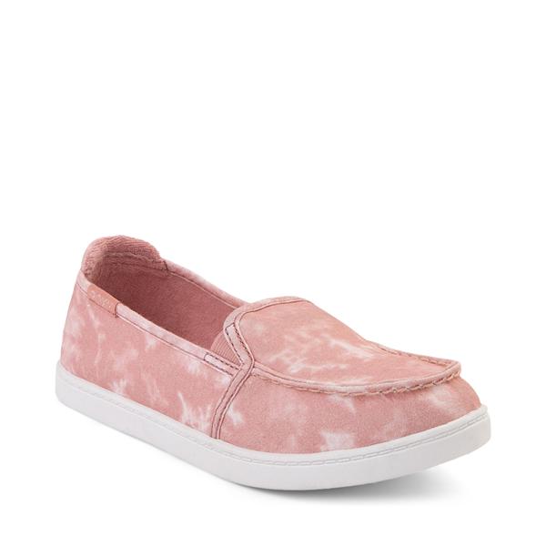 alternate view Womens Roxy Minnow Slip On Casual Shoe - BlushALT5