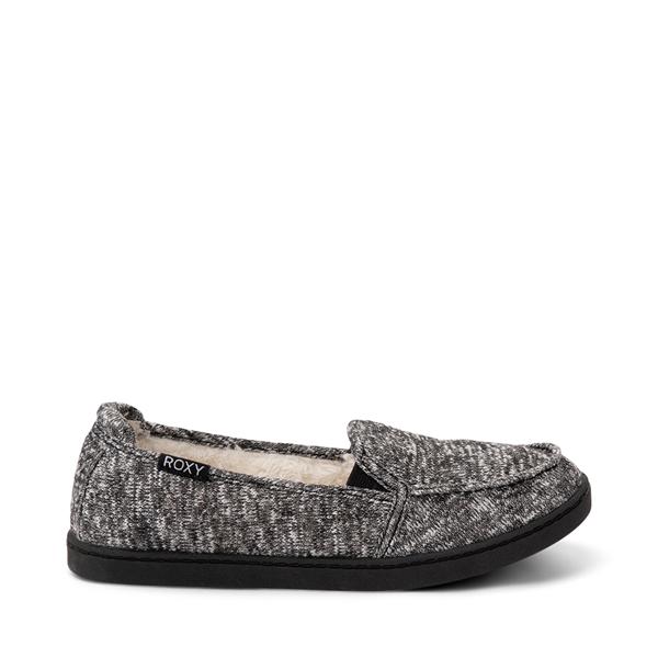 Main view of Womens Roxy Minnow Fur Slip On Casual Shoe - Dark Gray
