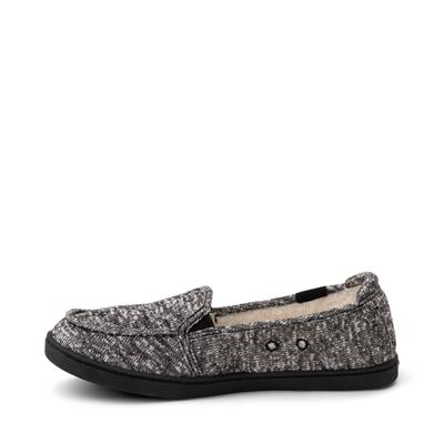 Alternate view of Womens Roxy Minnow Fur Slip On Casual Shoe - Dark Gray