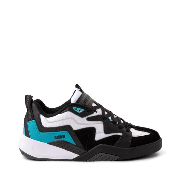 Main view of Mens DVS Devious Skate Shoe - Black / White / Turquoise