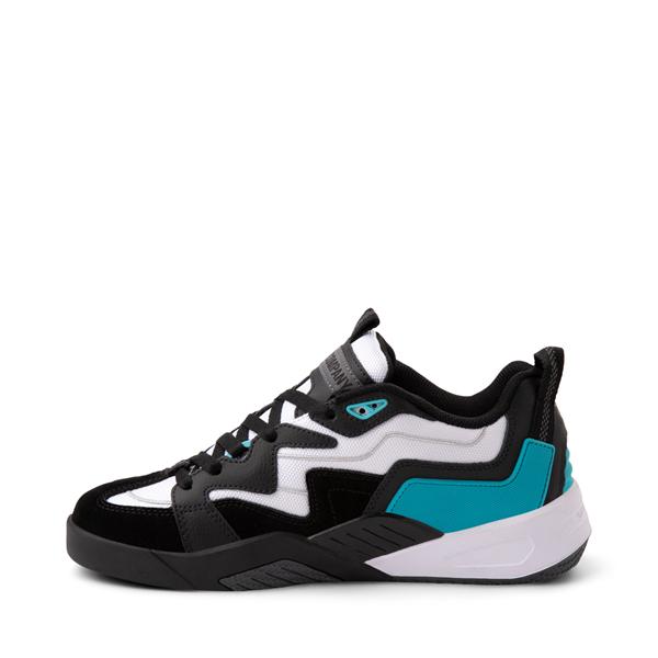 alternate view Mens DVS Devious Skate Shoe - Black / White / TurquoiseALT1