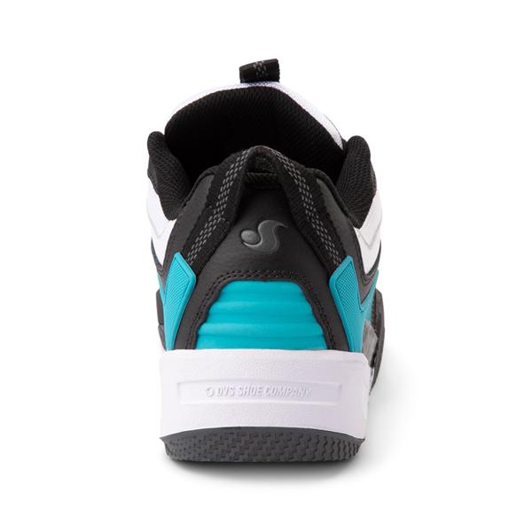 alternate view Mens DVS Devious Skate Shoe - Black / White / TurquoiseALT4