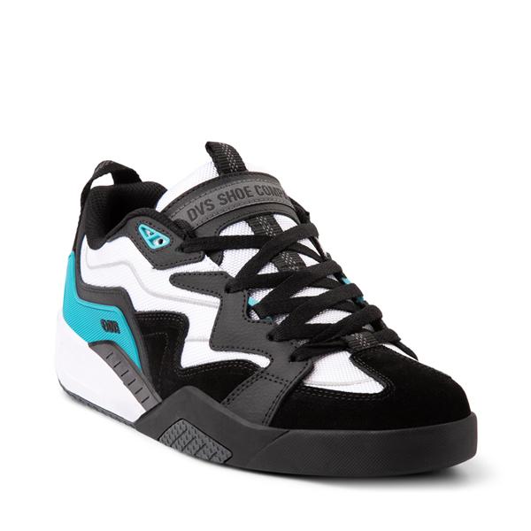 alternate view Mens DVS Devious Skate Shoe - Black / White / TurquoiseALT5