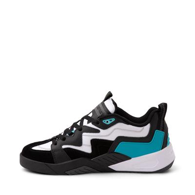 Alternate view of Mens DVS Devious Skate Shoe - Black / White / Turquoise