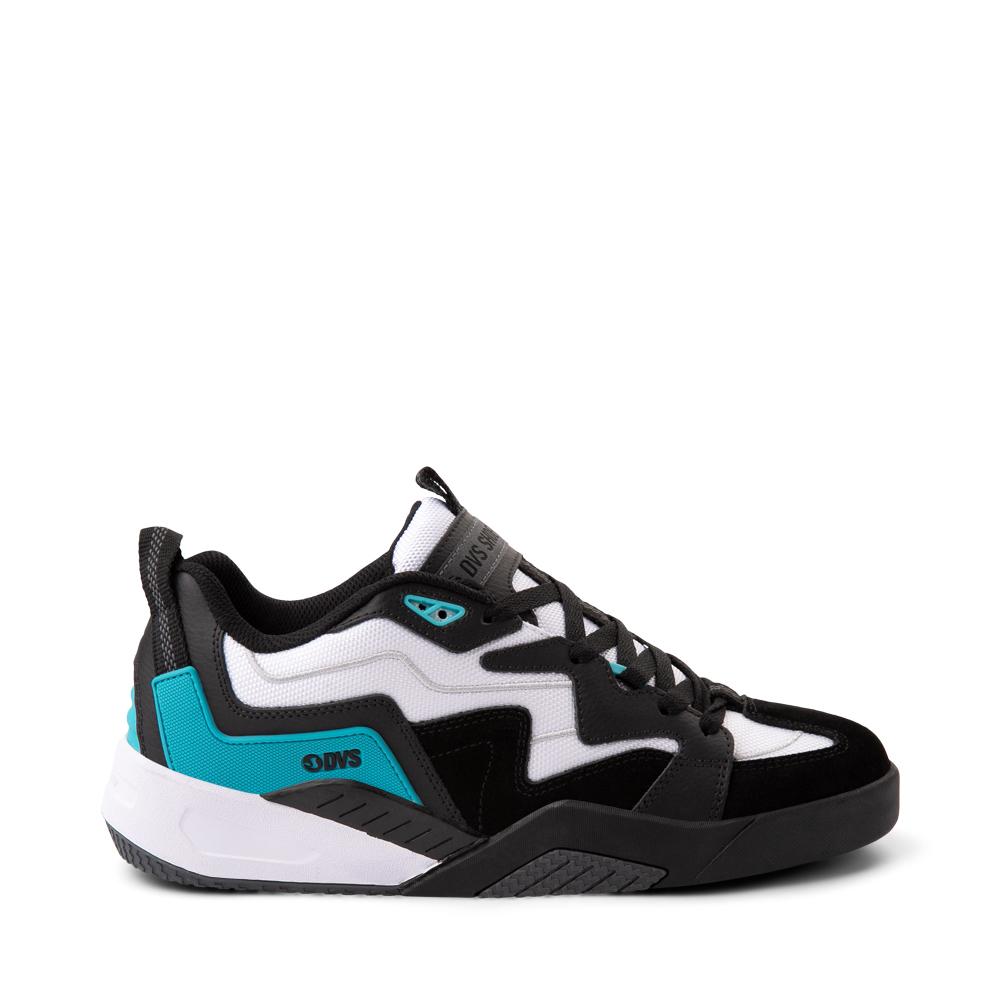 Mens DVS Devious Skate Shoe - Black / White / Turquoise