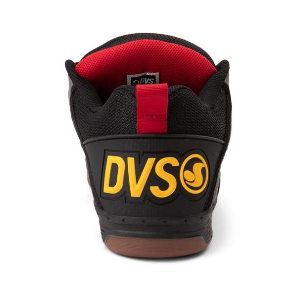 alternate view Mens DVS Comanche Skate Shoe - Black / Charcoal / GumALT4