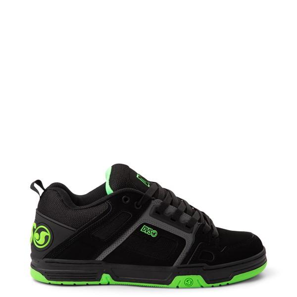 Main view of Mens DVS Comanche Skate Shoe - Black / Charcoal / Lime