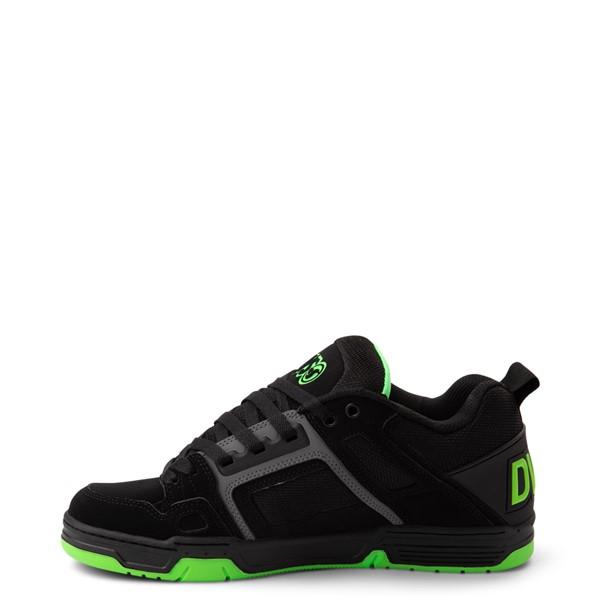 alternate view Mens DVS Comanche Skate Shoe - Black / Charcoal / LimeALT1