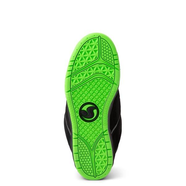 alternate view Mens DVS Comanche Skate Shoe - Black / Charcoal / LimeALT3
