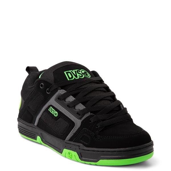 alternate view Mens DVS Comanche Skate Shoe - Black / Charcoal / LimeALT5