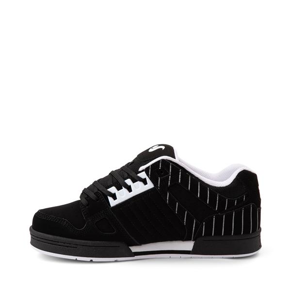 alternate view Mens DVS Celsius Skate Shoe - Black / StripesALT1