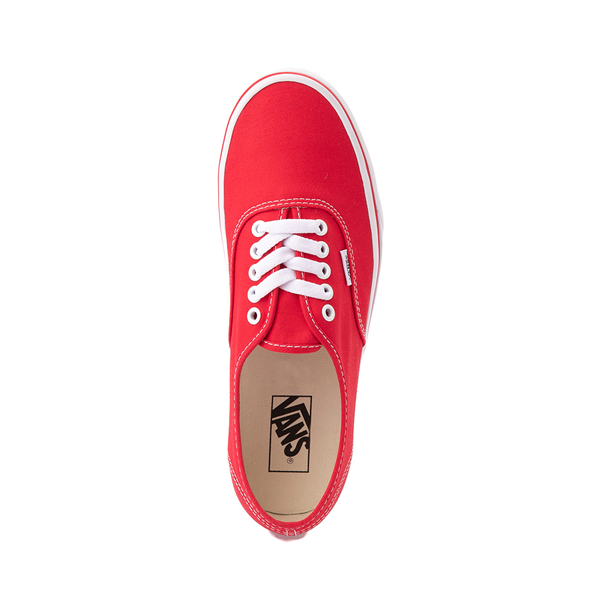 alternate view Vans Authentic Skate Shoe - Red / WhiteALT2