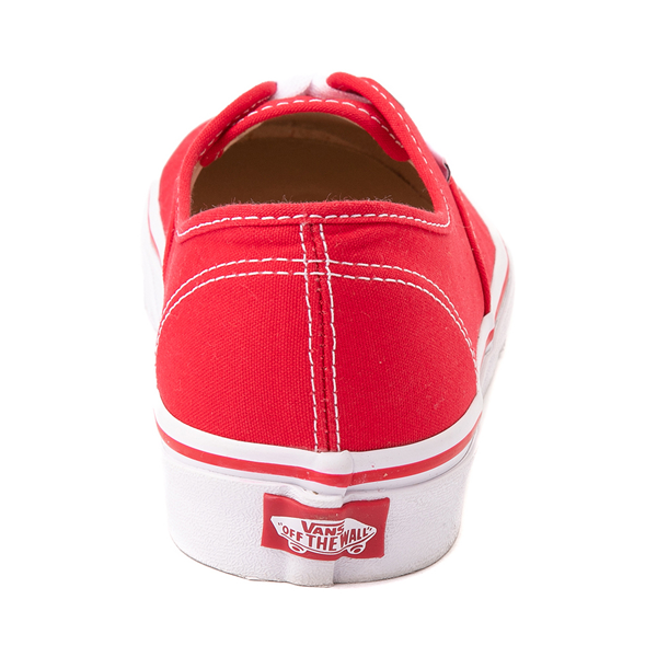 alternate view Vans Authentic Skate Shoe - Red / WhiteALT4