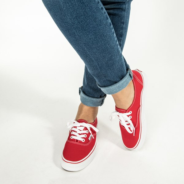 alternate view Vans Authentic Skate Shoe - Red / WhiteALT6