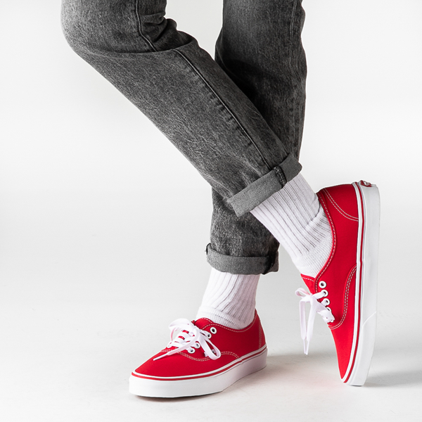 alternate view Vans Authentic Skate Shoe - RedB-LIFESTYLE1