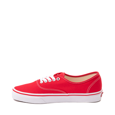 Alternate view of Vans Authentic Skate Shoe - Red / White
