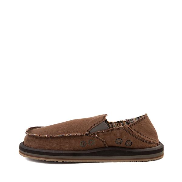 alternate view Mens Sanuk Vagabond Hemp Slip On Casual Shoe - BrownALT1